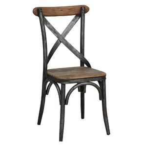 Black Wood Dining Chair metal kitchen & dining chairs you'll love | wayfair