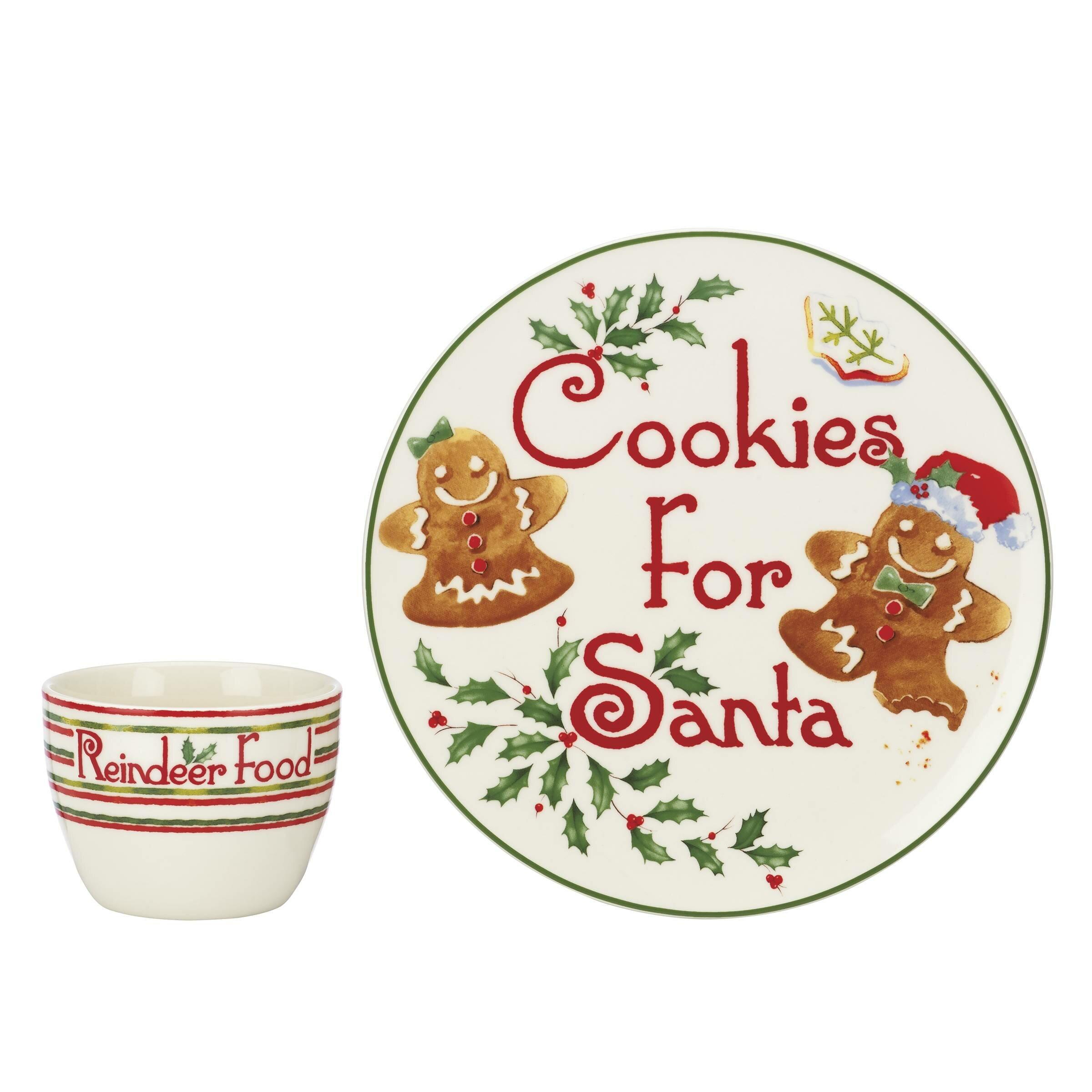 Lenox Holiday Countdown Til Christmas Cookies Santa 2-Piece 9  Salad Plate and Mug Set u0026 Reviews | Wayfair  sc 1 st  Wayfair & Lenox Holiday Countdown Til Christmas Cookies Santa 2-Piece 9