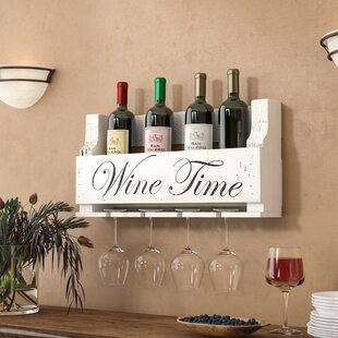 Truluck Wine Time 4 Bottle Wall Mounted Wine Rack