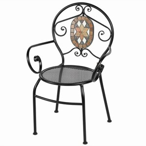 Carrell Metal Arm Chair by Fleur De Lis Living