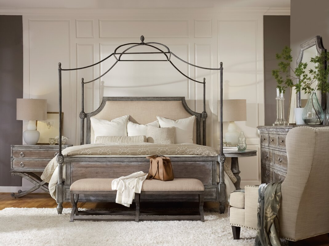 Hooker Furniture True Vintage Canopy Configurable Bedroom Set ...