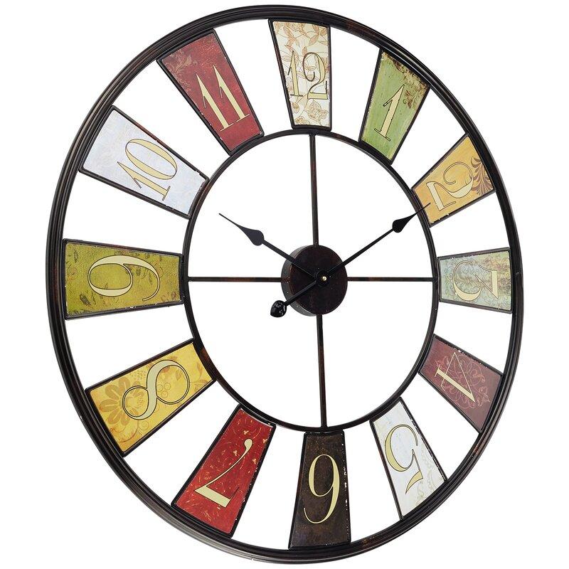 miavilla analoge wanduhr wheel xxl 80 cm. Black Bedroom Furniture Sets. Home Design Ideas