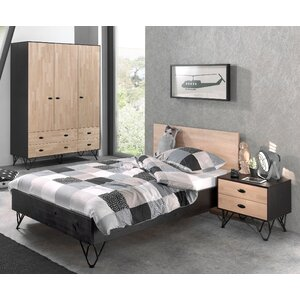 3-tlg. Schlafzimmer-Set William, 120 x 200 cm vo..