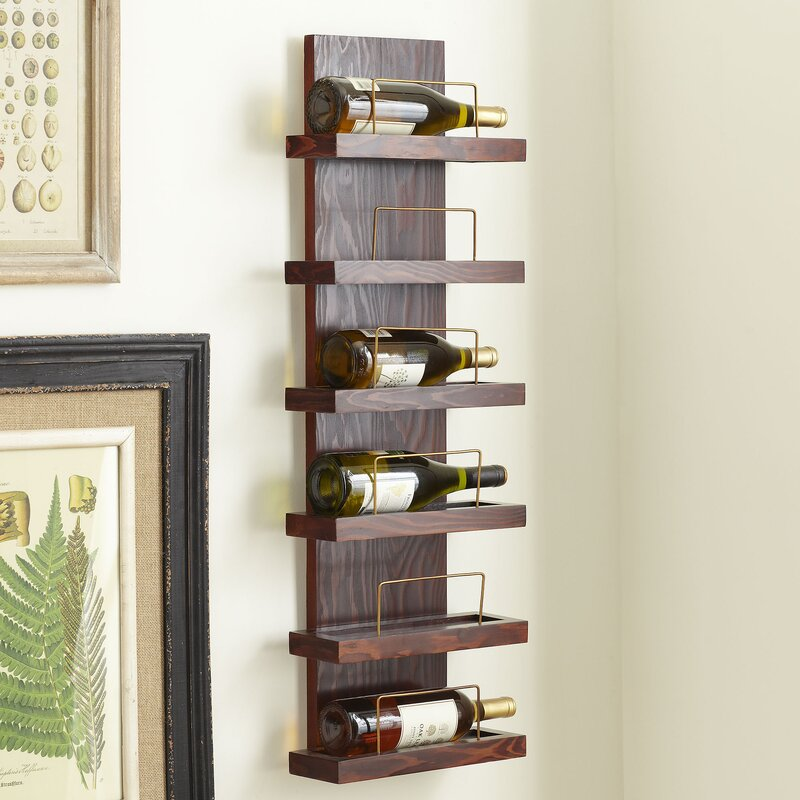 Charlton Home Gomez 6 Bottle Wall Mounted Wine Rack Reviews Wayfair