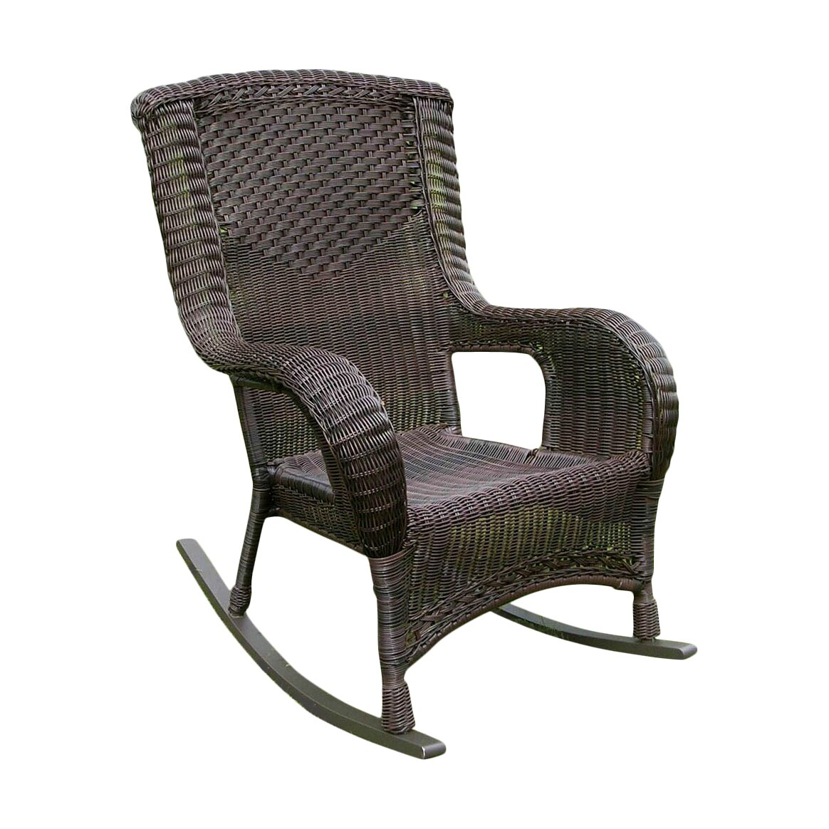 ... Resin Aluminum High Back Patio Rocking Chair & Reviews  Wayfair.ca