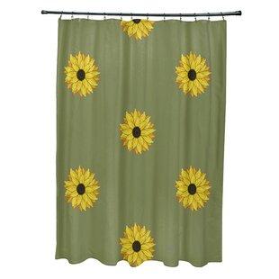 Sunflower Print Shower Curtain