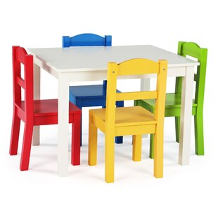 1ef54b5a21d3 Ogallala Kids  5 Piece Rectangular Table and Chair Set