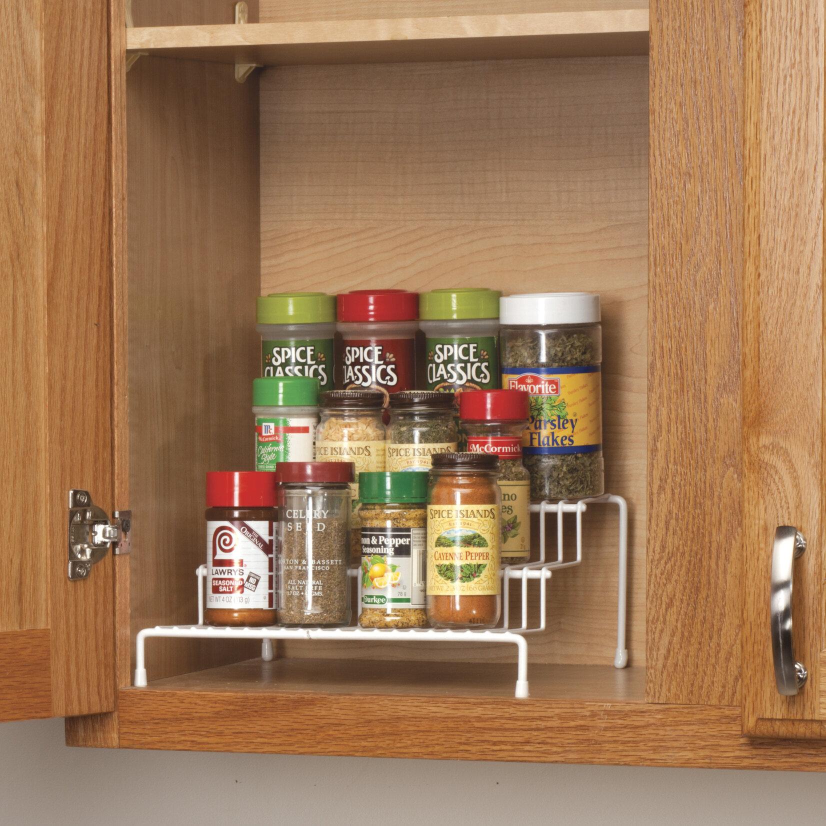 walter drake cabinet spice rack wayfair rh wayfair com over the cabinet hanging spice rack over the cabinet door spice rack