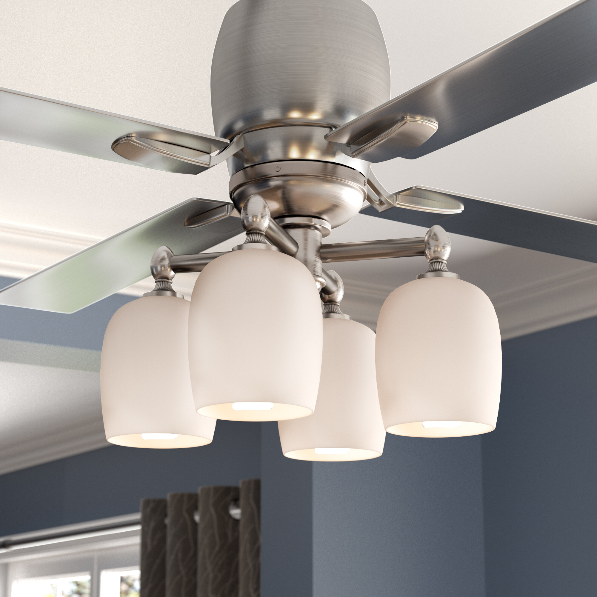 Darby Home Co 4 Light Branched Ceiling Fan Kit Reviews Wayfair