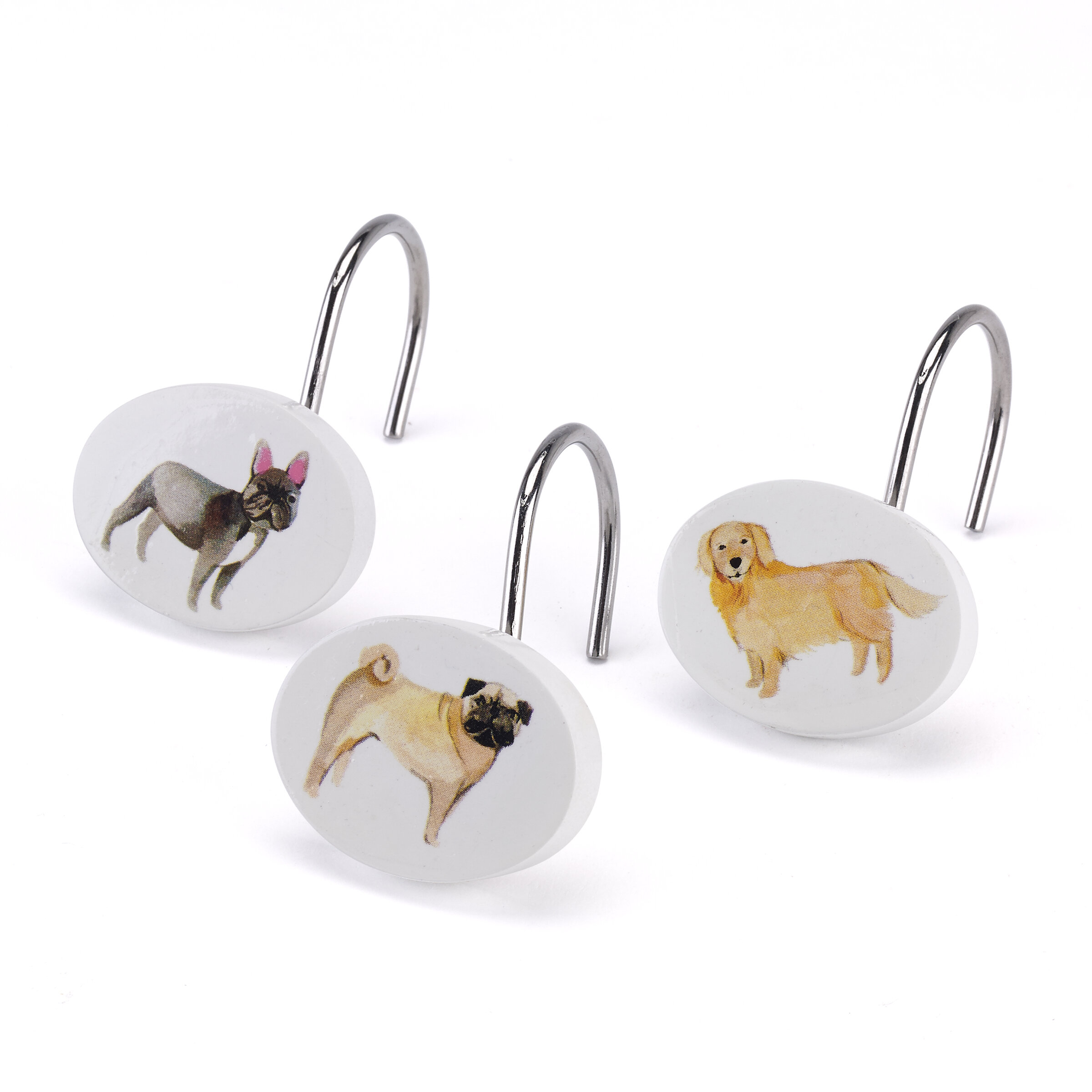 Avanti Linens Dogs On Parade Shower Curtain Hooks