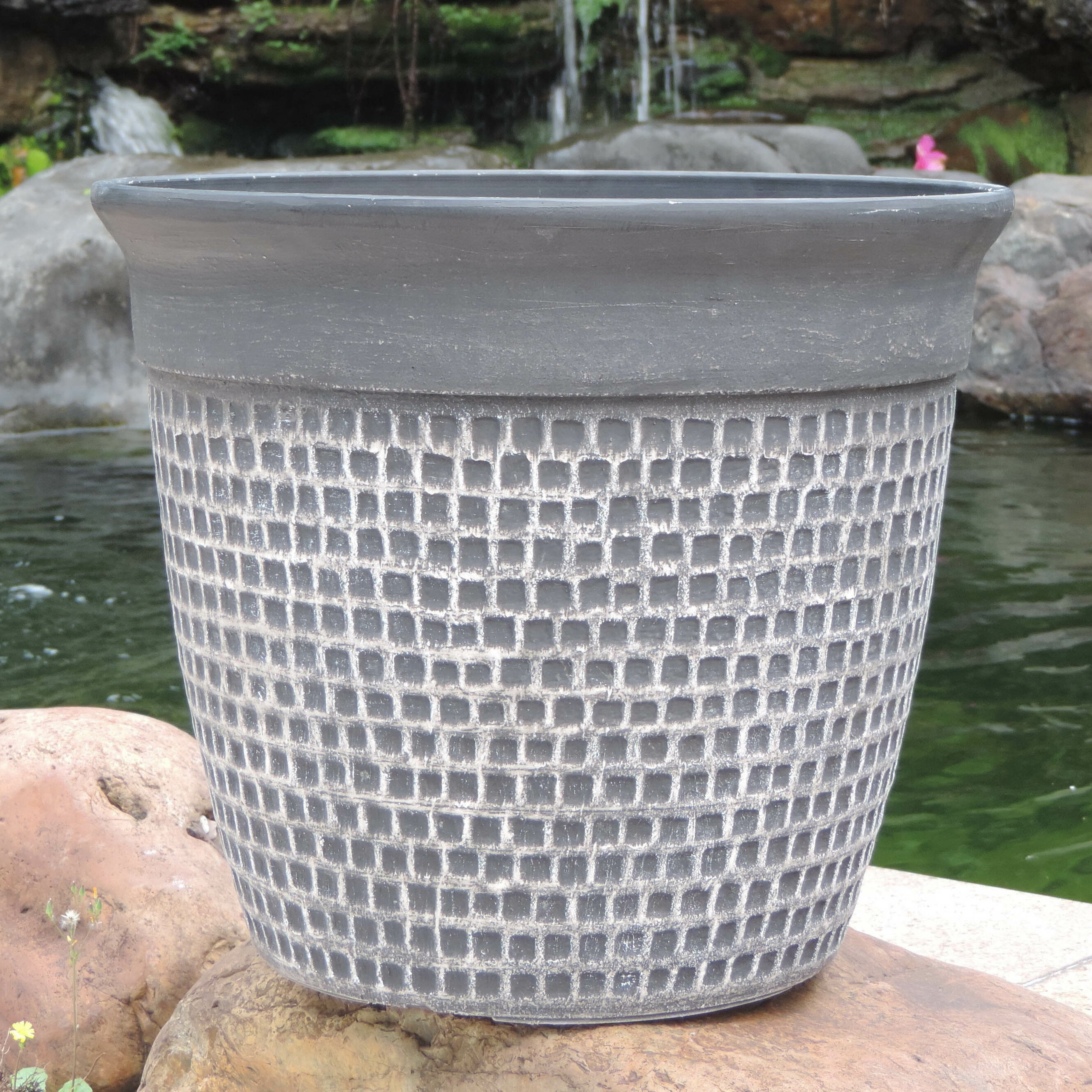 Griffith Creek Designs Self Watering Fiber Clay Pot Planter