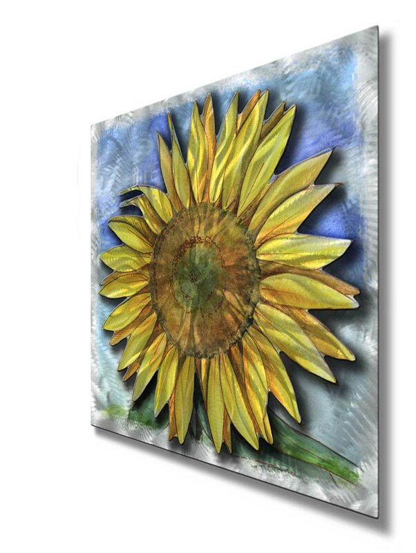 'Big Sunflower' by Ash Carl Graphic Art Plaque