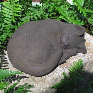 Curled Cat Statue