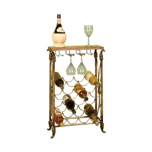 Knotts Lane 16 Bottle Floor Wine Rack by Charlton Home