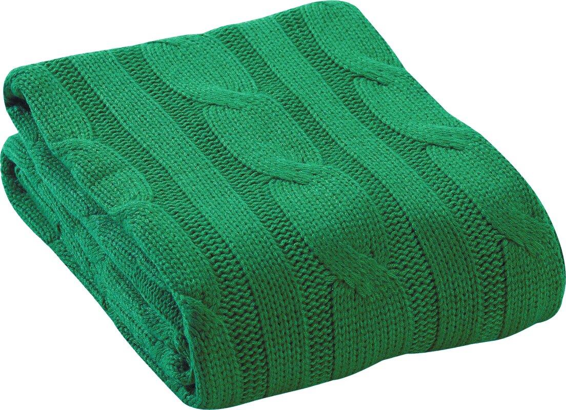 Cable Knit Throw   Wayfair