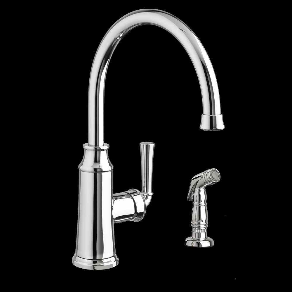 American Standard Portsmouth Single Handle Kitchen Faucet with Side ...