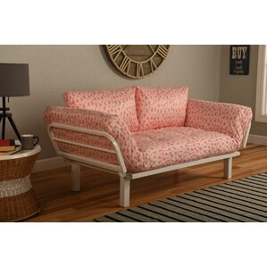 Everett Convertible Lounger in Sweet Heart Futon and Mattress by Ebern Designs