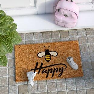 e0a08ea06efa3 Howe Bee Happy Door mat