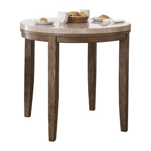 Marble top patio table wayfair portneuf counter height marble top dining table watchthetrailerfo