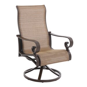 Rivera Swivel Patio Dining Chair (Set of 2)