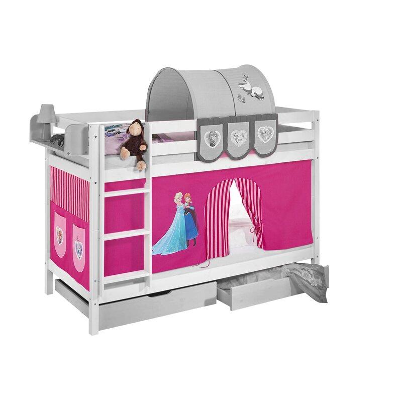 Frozen Disney S Frozen Bunk Bed With Bottom Bunk Curtain Wayfair Co Uk