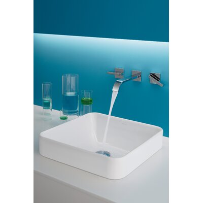 Vox Ceramic Square Vessel Bathroom Sink with Overflow