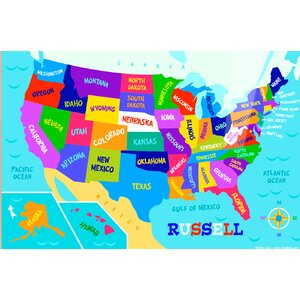 USA Map Personalized Placemat