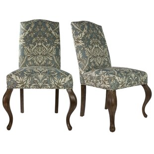 Queen Ann Spring Upholstered Side Chair (Set of 2)
