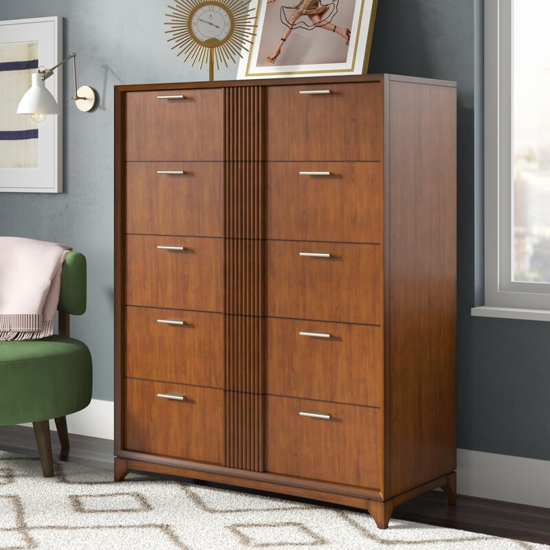 Ivy Bronx Caitlin 5 Drawer Double Dresser