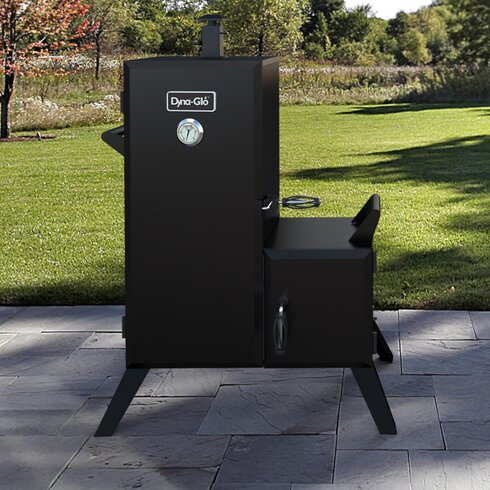 Double Door Vertical Charcoal Smoker with Adjustable Cook Grate & Dyna-Glo Double Door Vertical Charcoal Smoker with Adjustable Cook ...