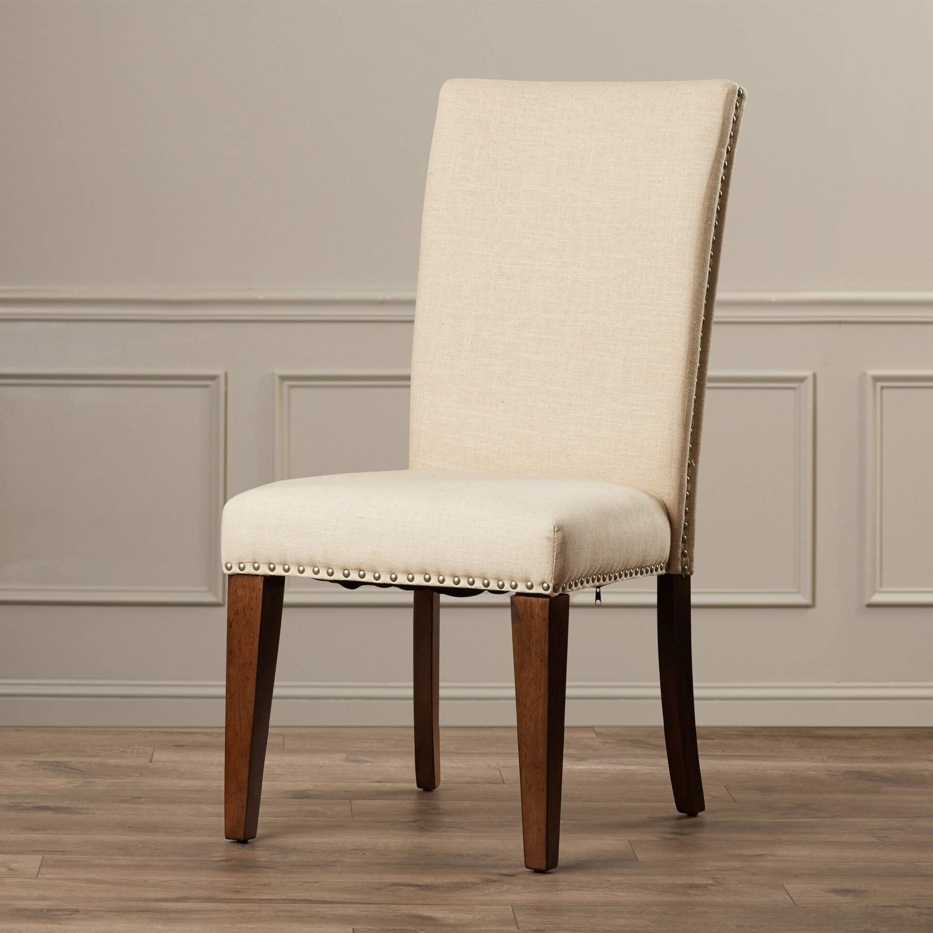 Alcott Hill Pearse Upholstered Parsons Chair U0026 Reviews | Wayfair
