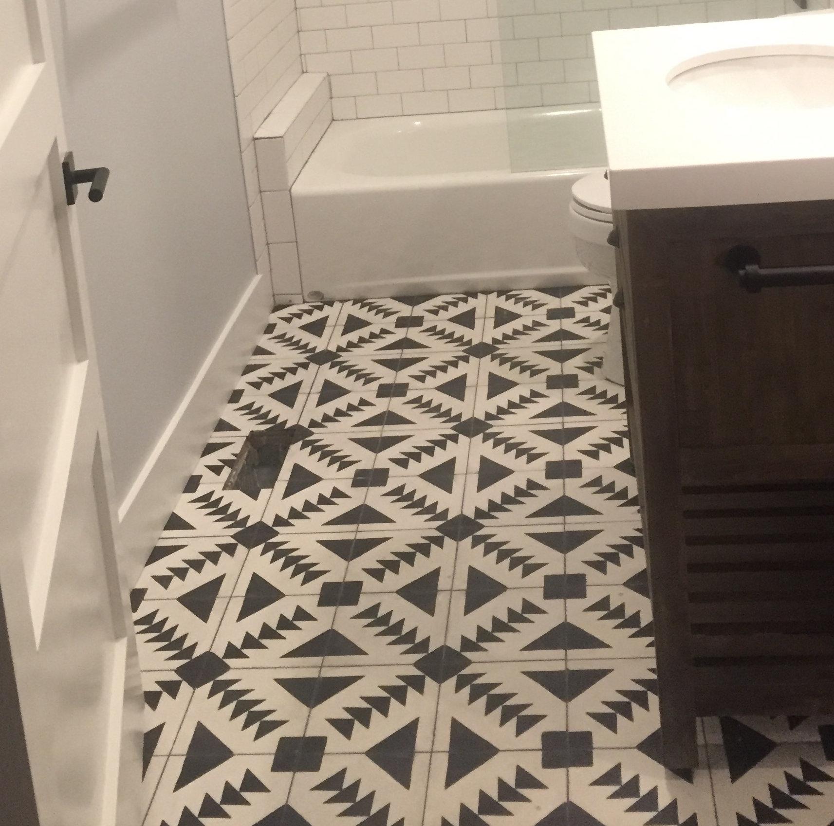 Moroccan Mosaic Tile House Tadla 8 X Handmade Cement In Black White Reviews Wayfair