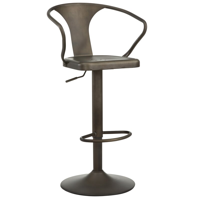 Adjustable Height Swivel Bar Stool  sc 1 st  Wayfair & nspire Adjustable Height Swivel Bar Stool u0026 Reviews | Wayfair islam-shia.org