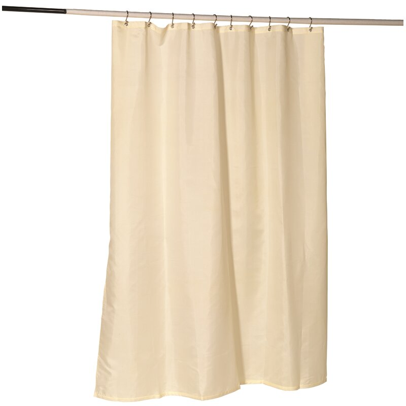 Nylon Fabric Shower Curtain Liner With Reinforced Header And Metal Grommets
