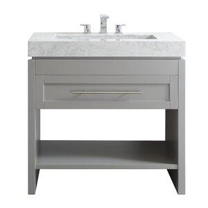 modern bathroom vanities cabinets allmodern - Bathroom Cabinets Sink