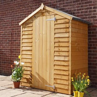 Bon 5 Ft. W X 3 Ft. D Overlap Apex Wooden Shed