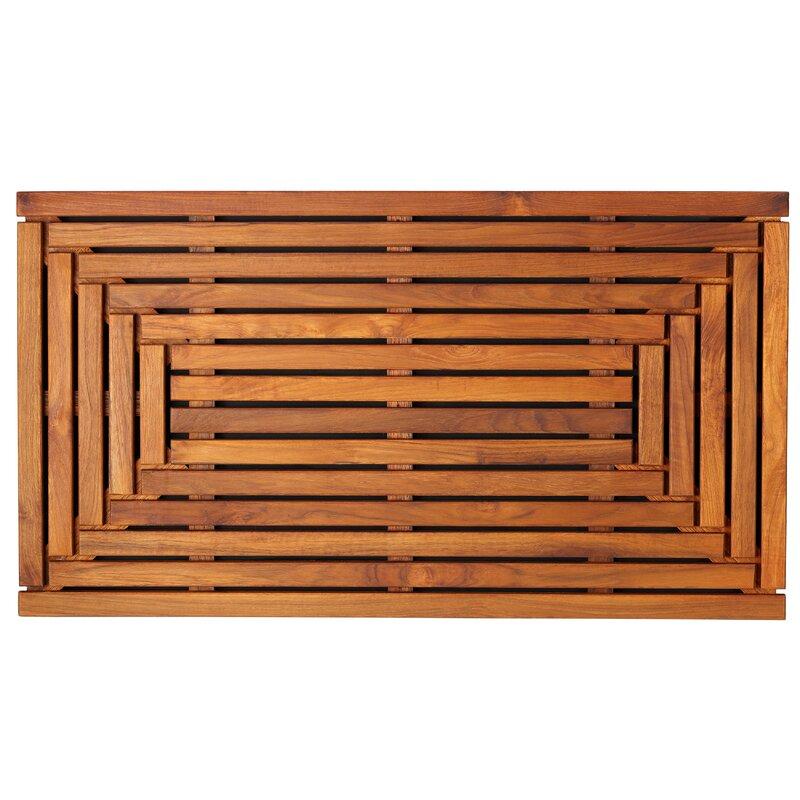 Solid Teak Wood Shower Mat