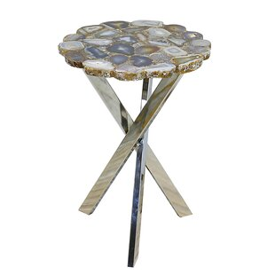 Perfect Rosley Agate Slab End Table