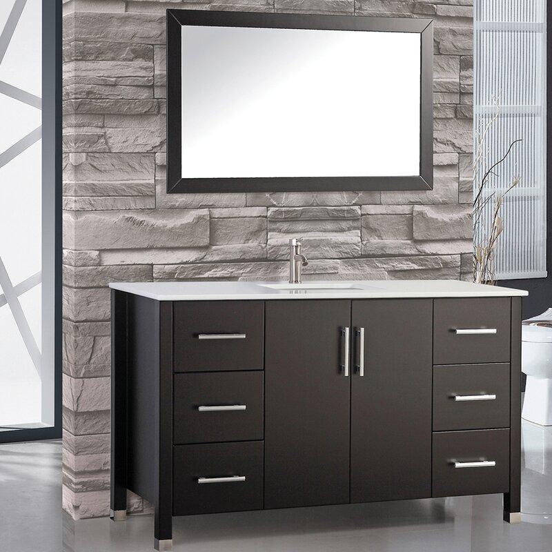 Awesome Prahl 60 Single Sink Bathroom Vanity Set With Mirror Download Free Architecture Designs Scobabritishbridgeorg