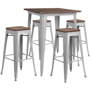 Presswood 5 Piece Pub Table Set