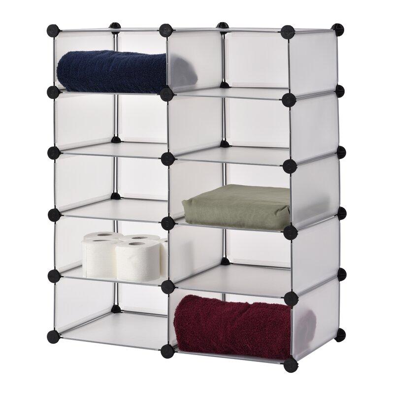 Modular Cube Storage 20 Pair Stackable Shoe Rack