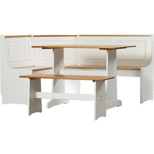 Check Price Today Birtie 3 Piece Solid Wood Breakfast Nook Dining Set August Grove