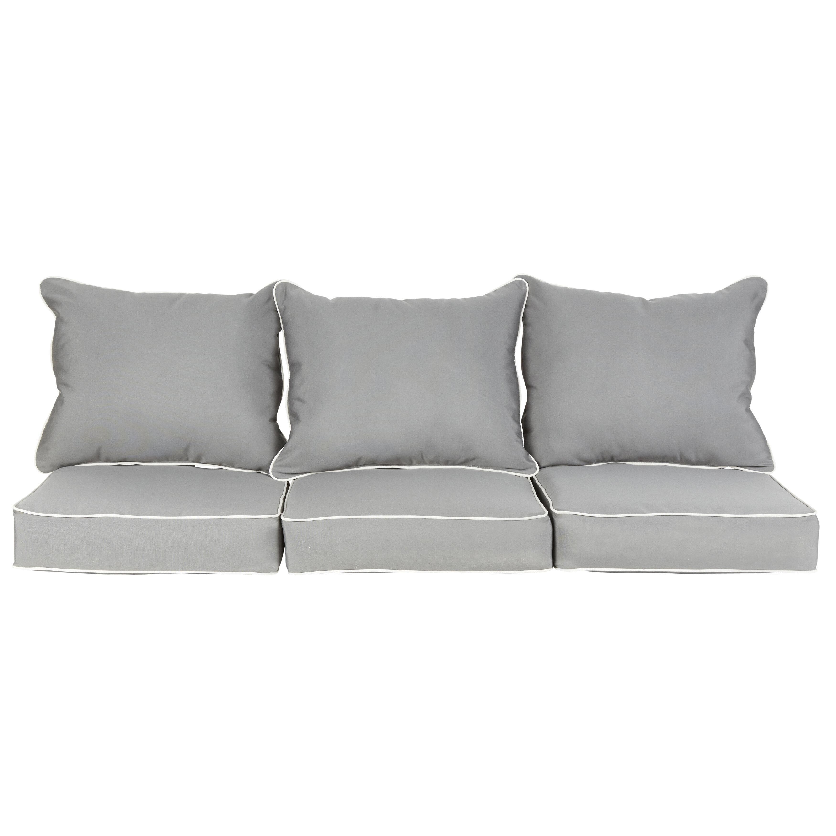 Beachcrest Home Feldspar Indoor Outdoor Sunbrella Sofa Cushion Reviews Wayfair