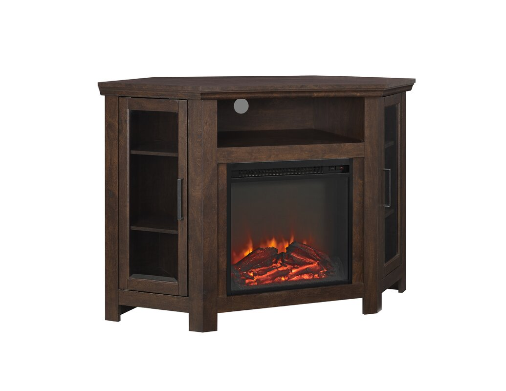 Union Rustic Rena Corner 48 Quot Tv Stand With Fireplace