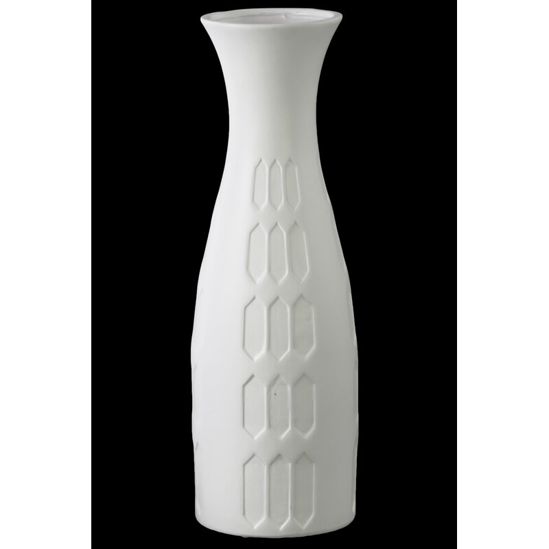 George Oliver Embossed Hexagonal Ceramic Round Vase Wayfair