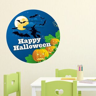 Happy Halloween, Witch Wall Sticker by East Urban Home