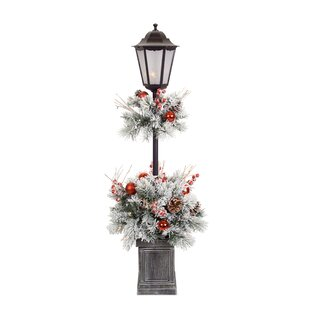 zariah pine potted 48 lamp post by the holiday aisle - Christmas Lamp Post Decoration
