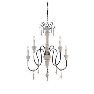 round black chandelier black and gold corneau 5light chandelier farmhouse or country youll love