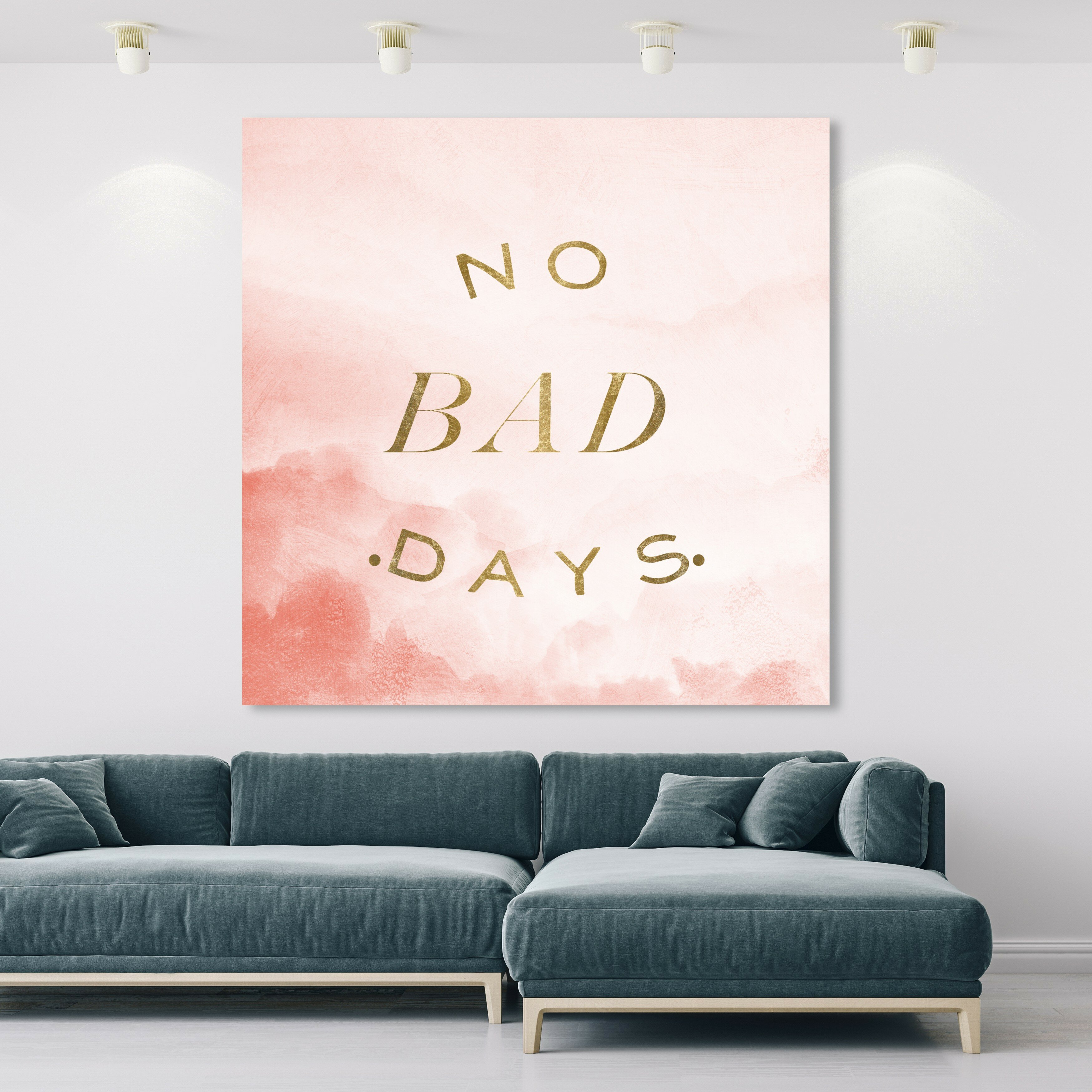 Oliver Gal No Bad Days Textual Art On Canvas