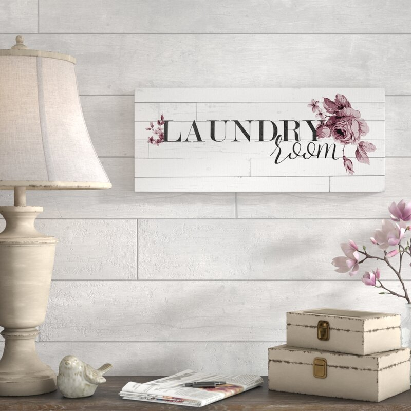 Vintage Chic Laundry Room Textual Art On Canvas Reviews Wayfair